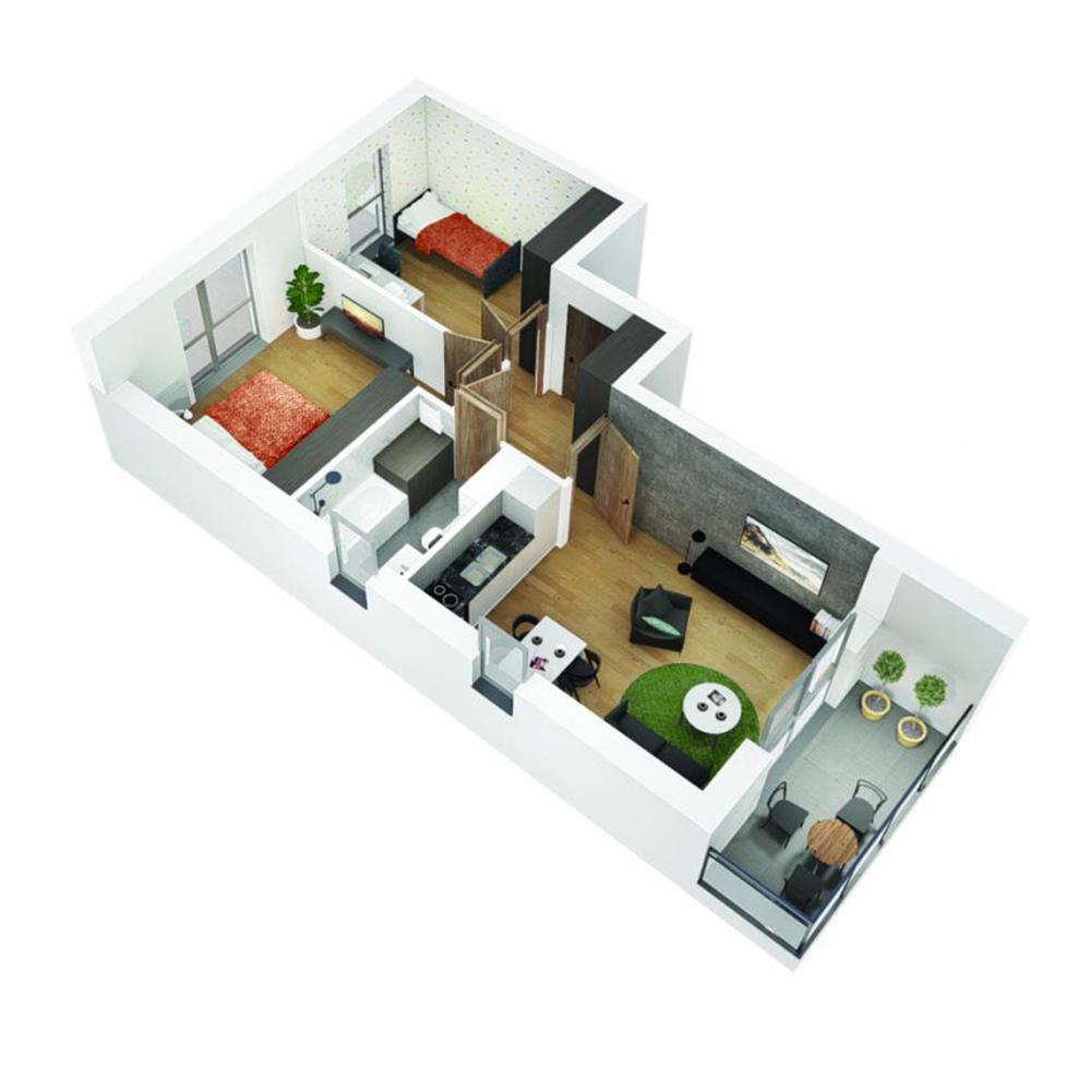Mieszkanie 3-pokojowe OU-4-26