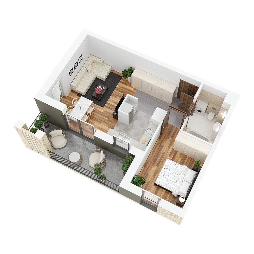 Mieszkanie 2-pokojowe PP-26-82