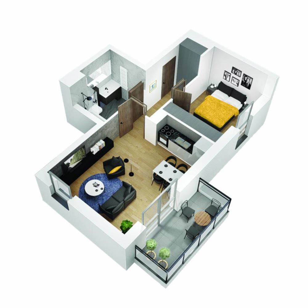 Mieszkanie 2-pokojowe OU-6-11