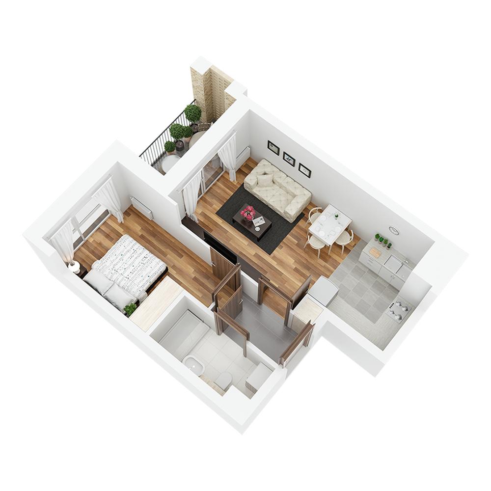 Mieszkanie 2-pokojowe PP-24-10