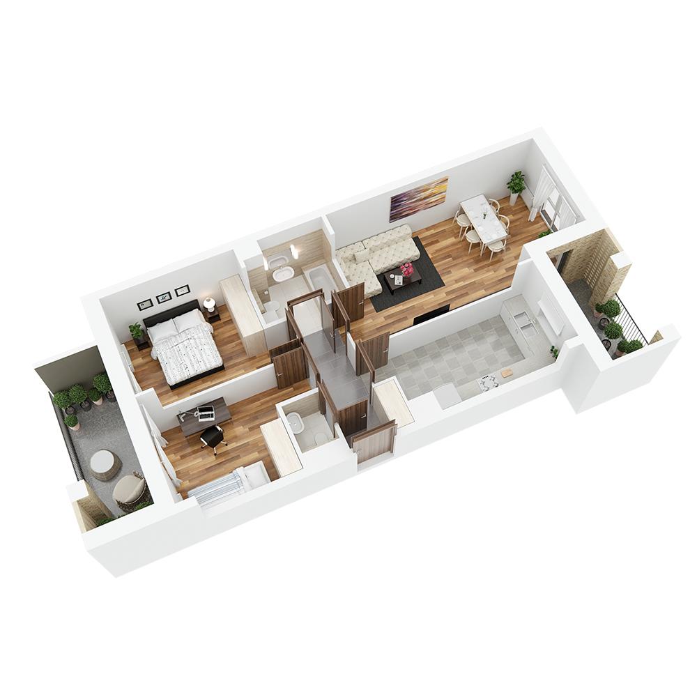 Mieszkanie 3-pokojowe PP-26-64