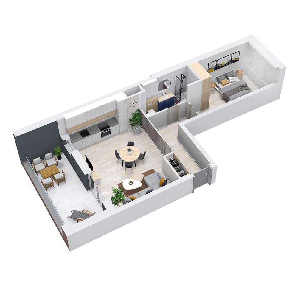 Mieszkanie 2-pokojowe PP-8C-85