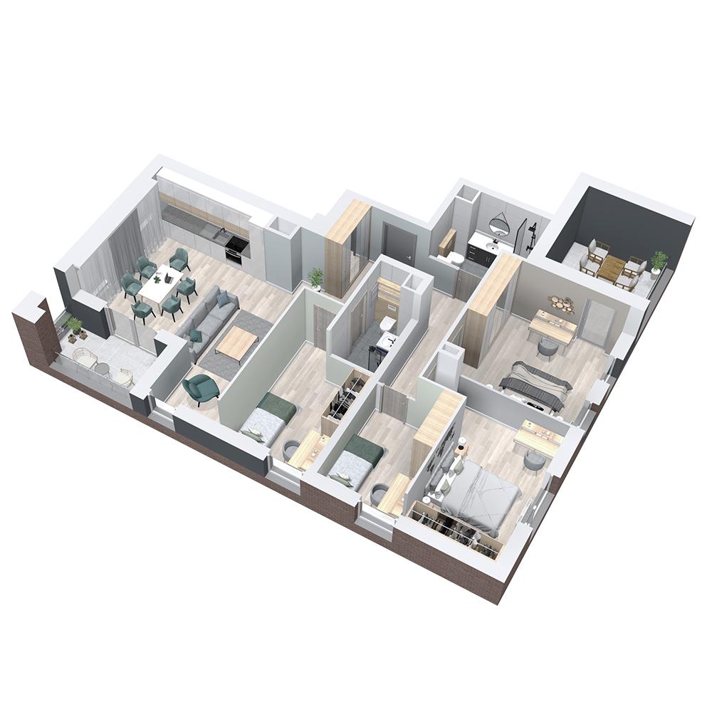 Mieszkanie 5-pokojowe PP-8B-49