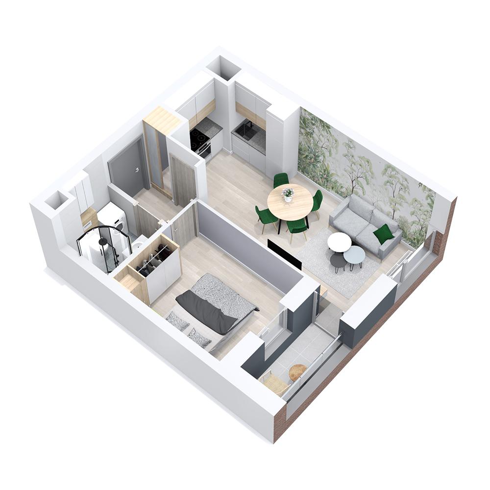 Mieszkanie 2-pokojowe PP-8B-40