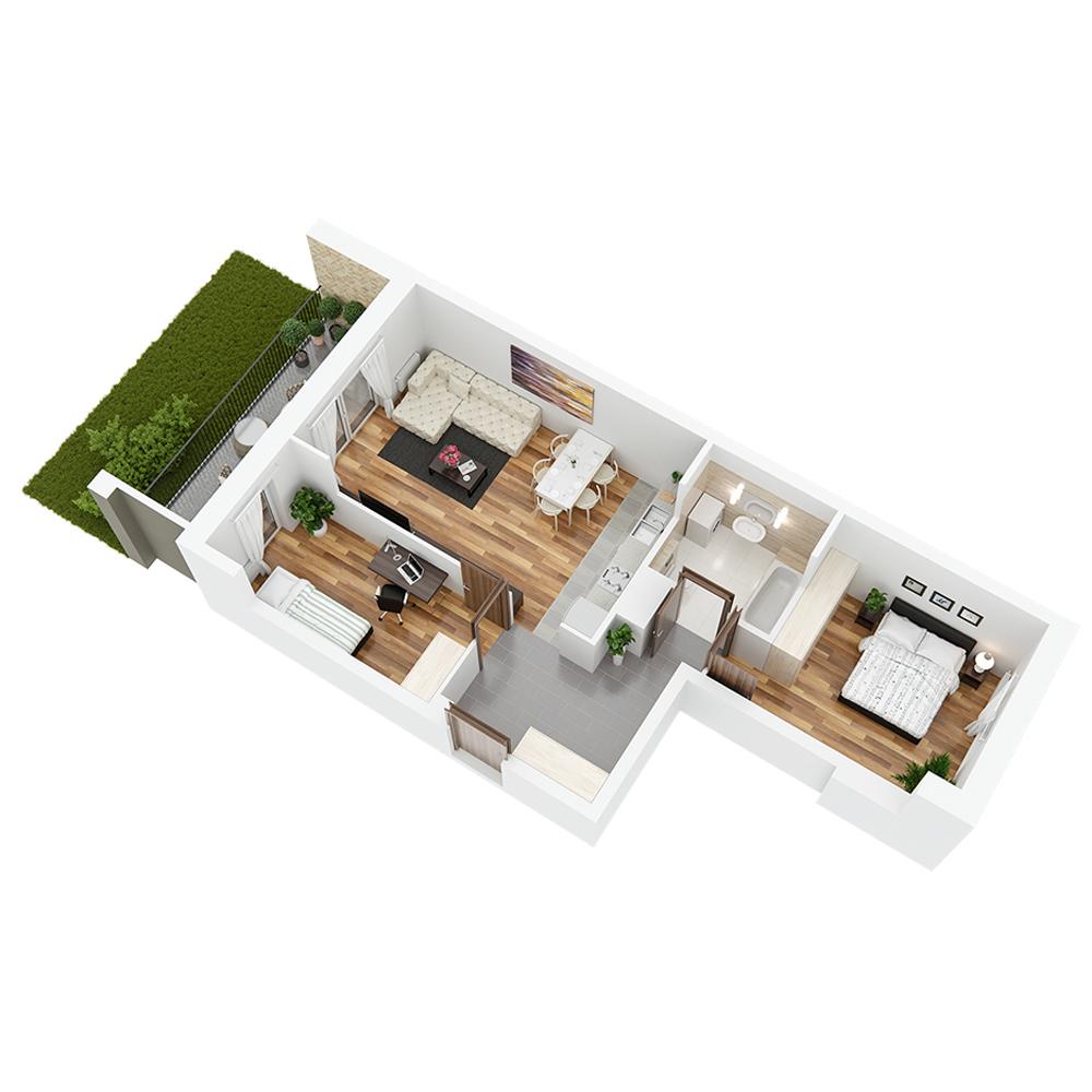 Mieszkanie 3-pokojowe PP-24-76