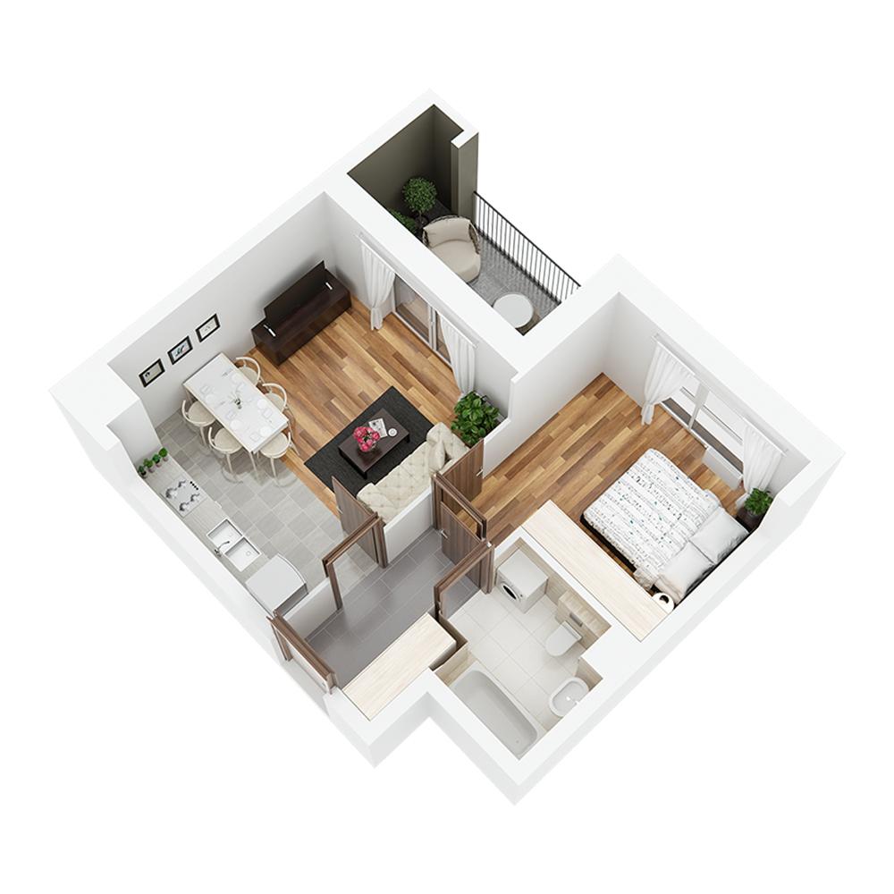 Mieszkanie 2-pokojowe PP-24-27