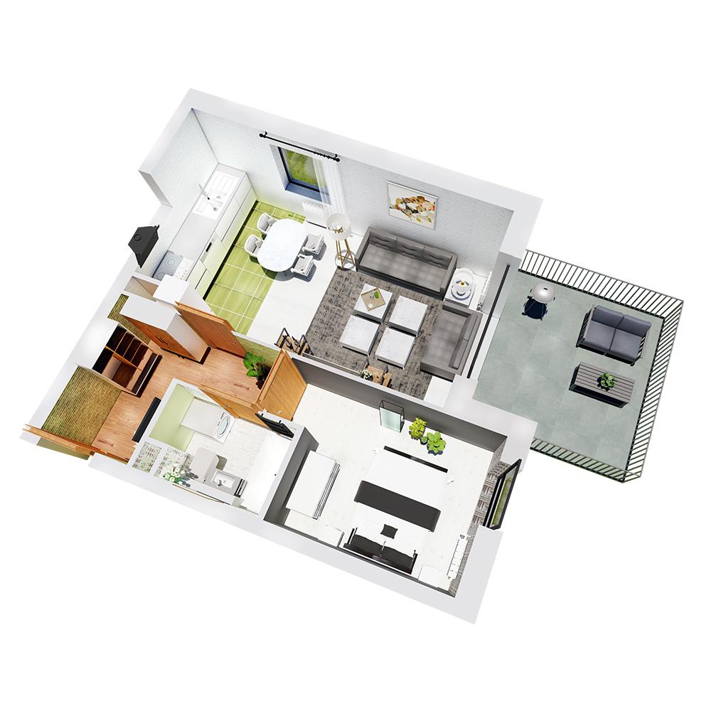 Mieszkanie 2-pokojowe R-B-20