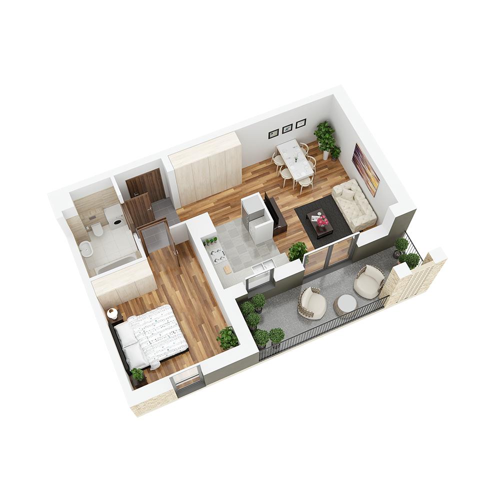 Mieszkanie 2-pokojowe PP-24-90