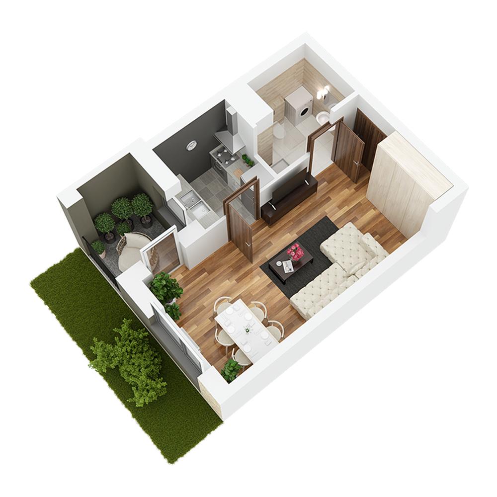 Mieszkanie 1-pokojowe PP-24-75