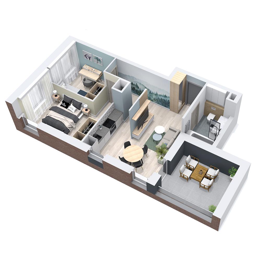 Mieszkanie 3-pokojowe PP-8B-51