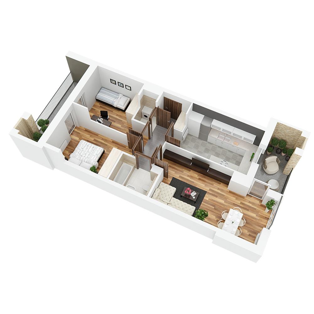 Mieszkanie 3-pokojowe PP-26-9