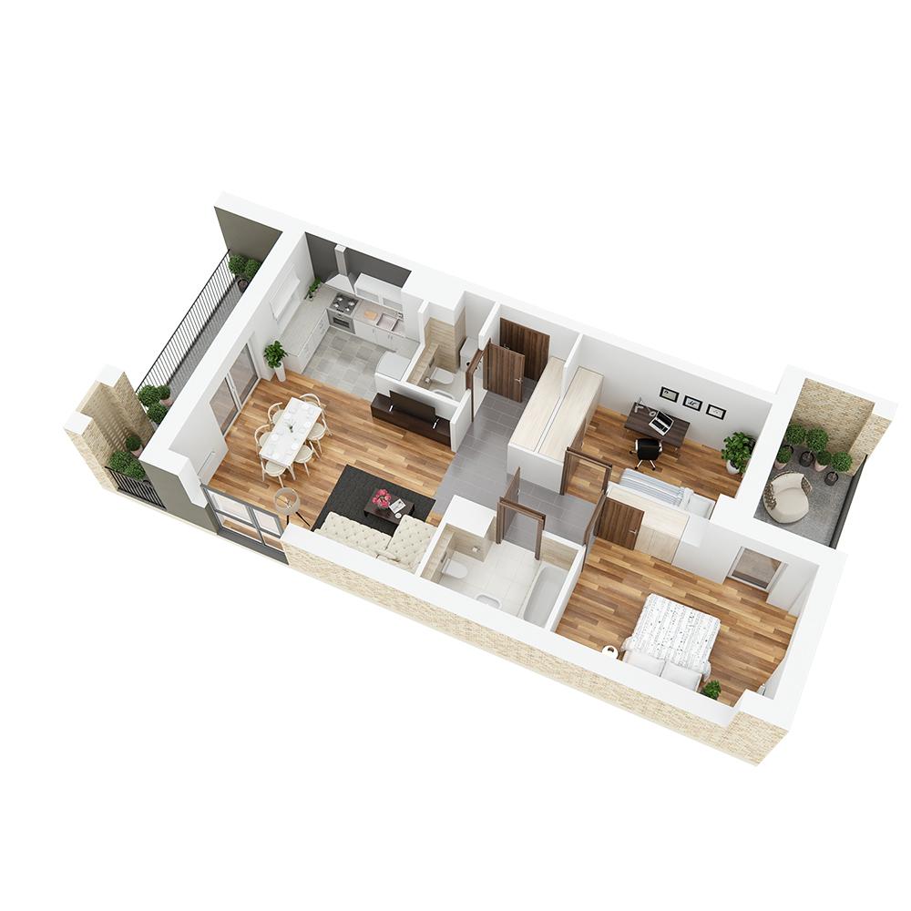 Mieszkanie 3-pokojowe PP-26-23