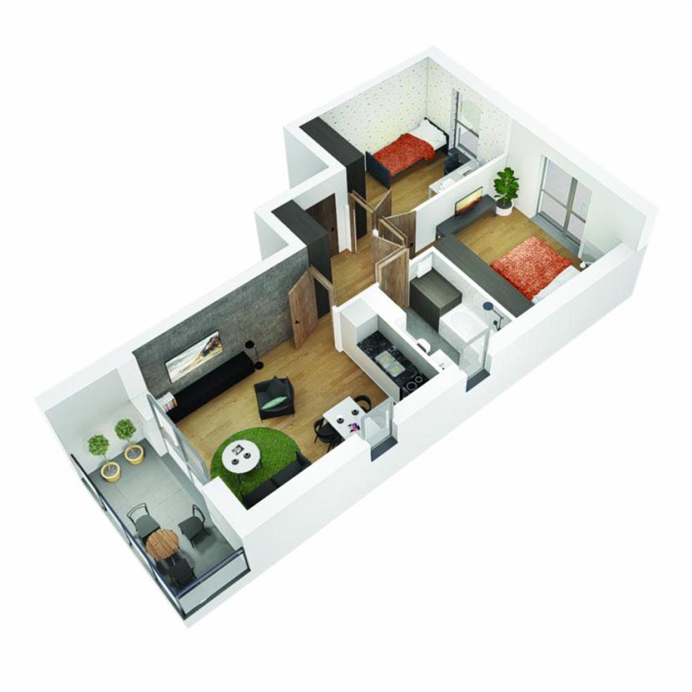 Mieszkanie 3-pokojowe OU-5-5