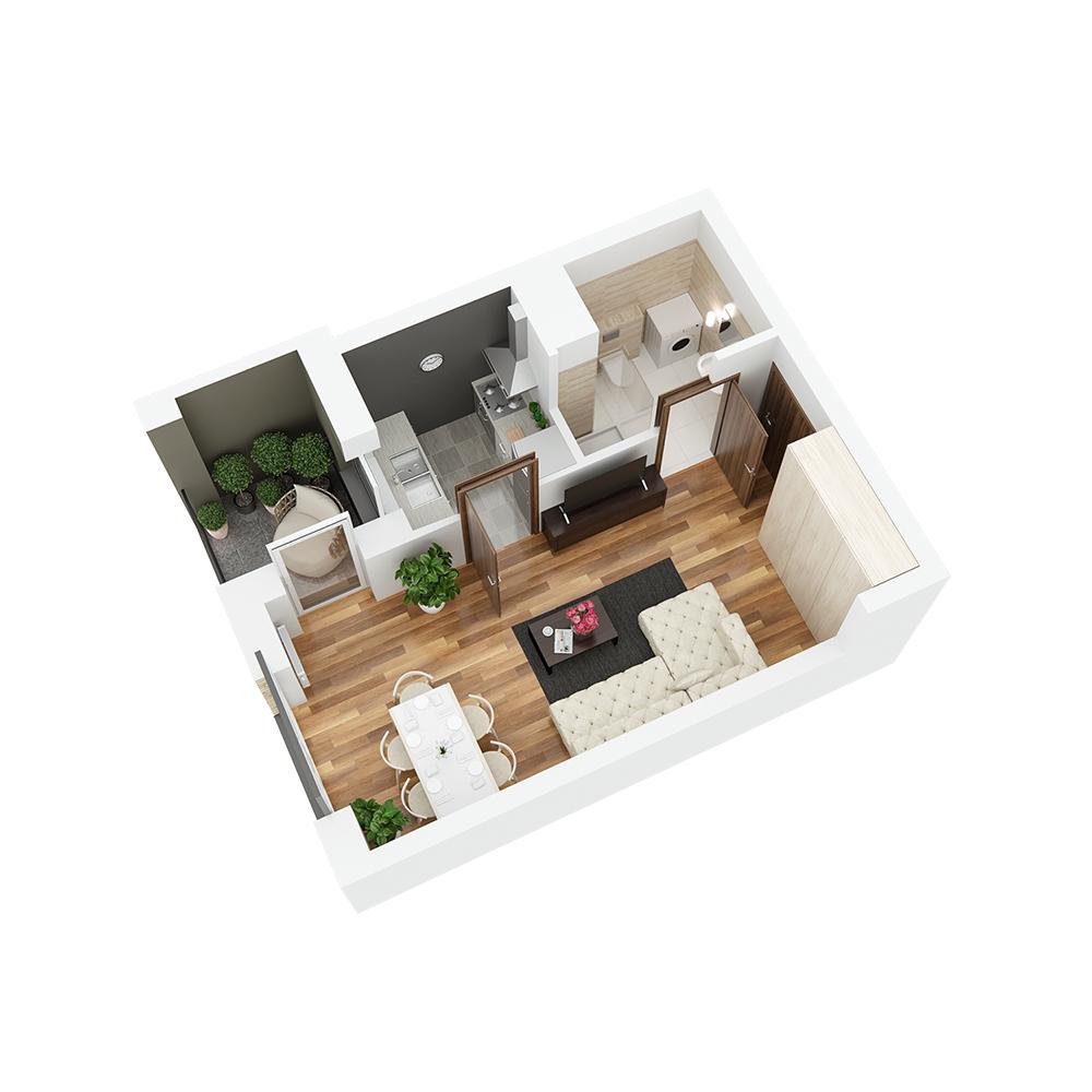 Mieszkanie 1-pokojowe PP-24-95