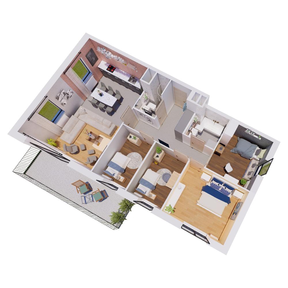 Mieszkanie 5-pokojowe R-B-16