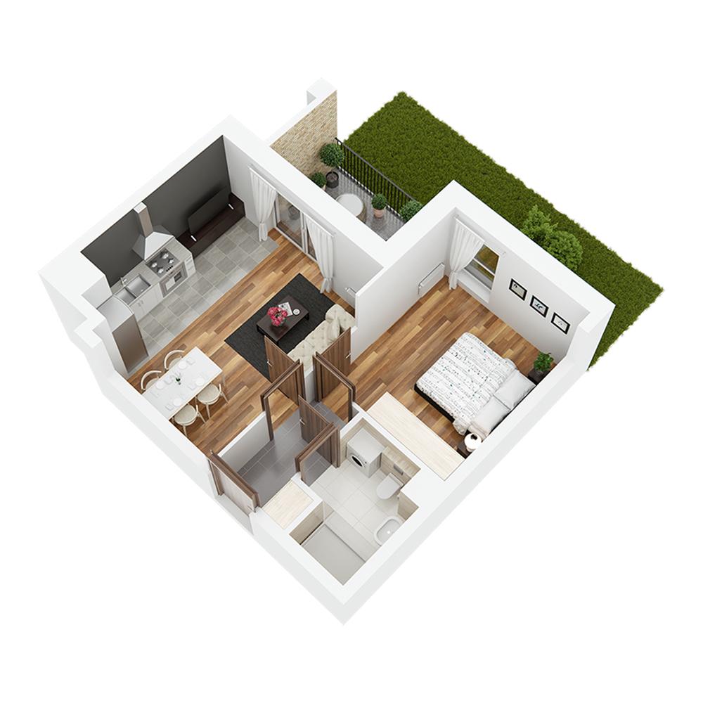Mieszkanie 2-pokojowe PP-26-50