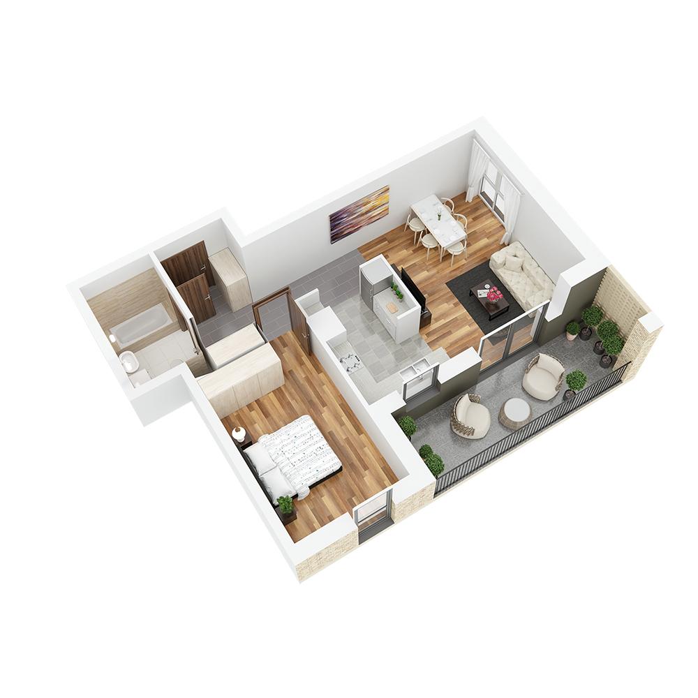 Mieszkanie 2-pokojowe PP-26-71