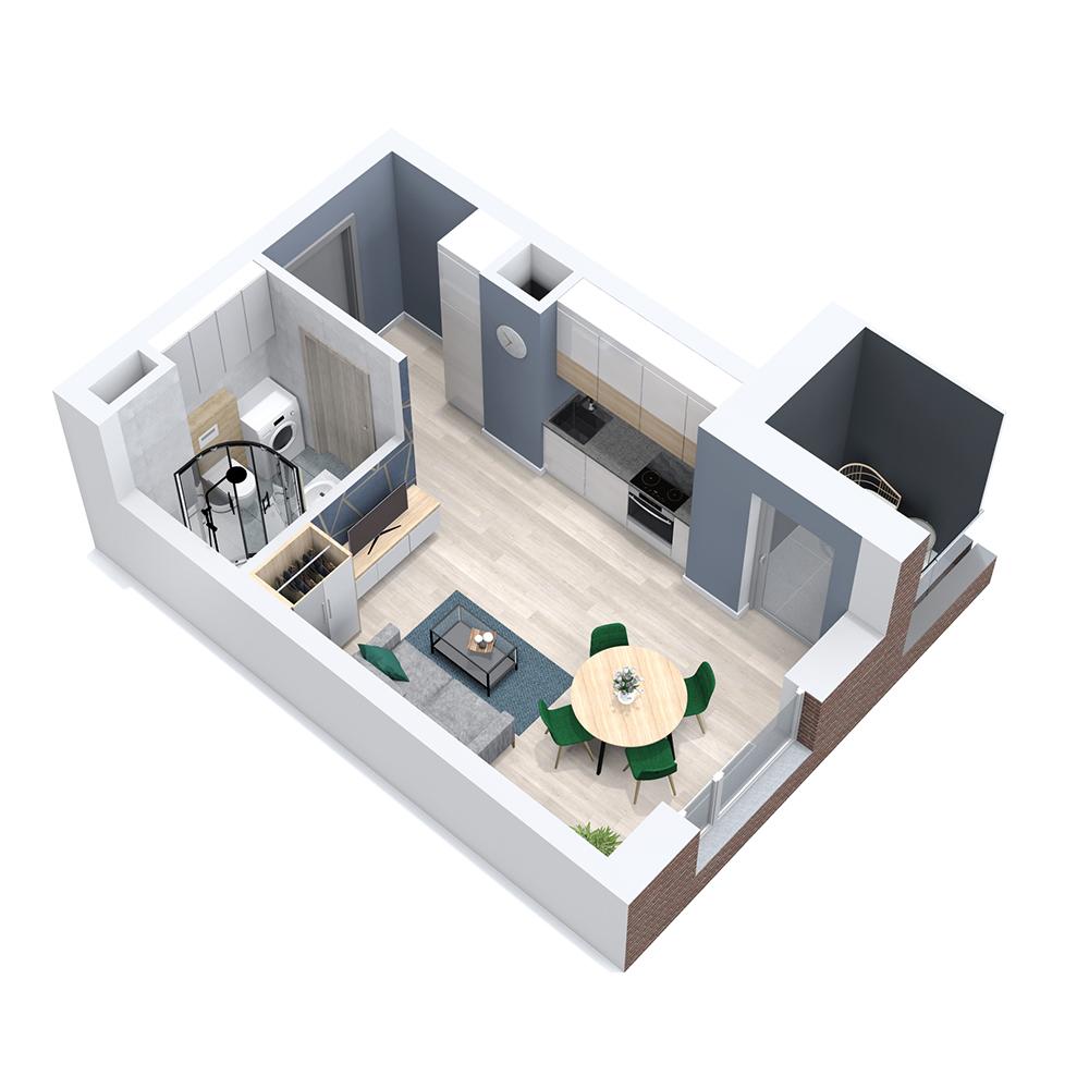 Mieszkanie 1-pokojowe PP-8C-79