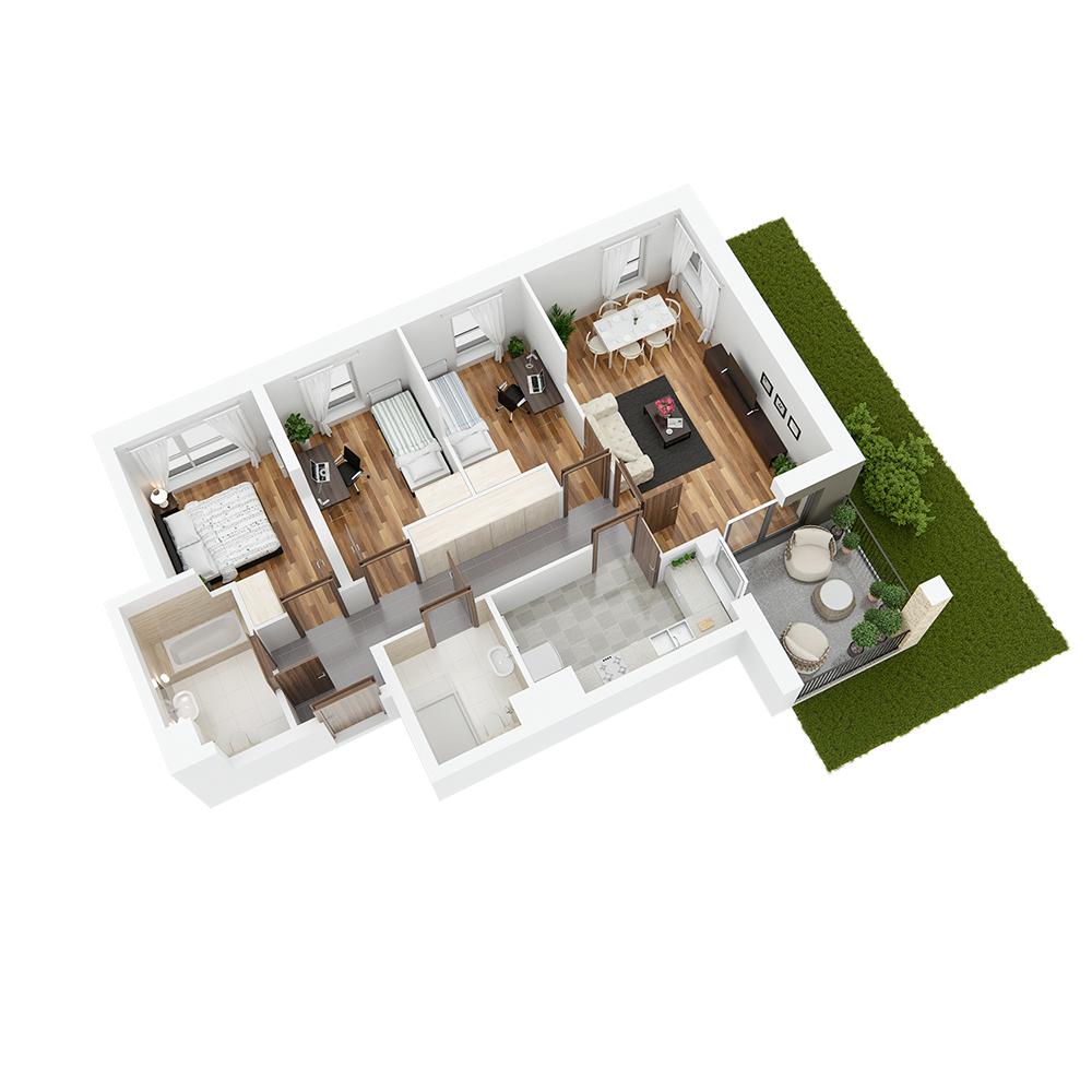 Mieszkanie 4-pokojowe PP-24-85