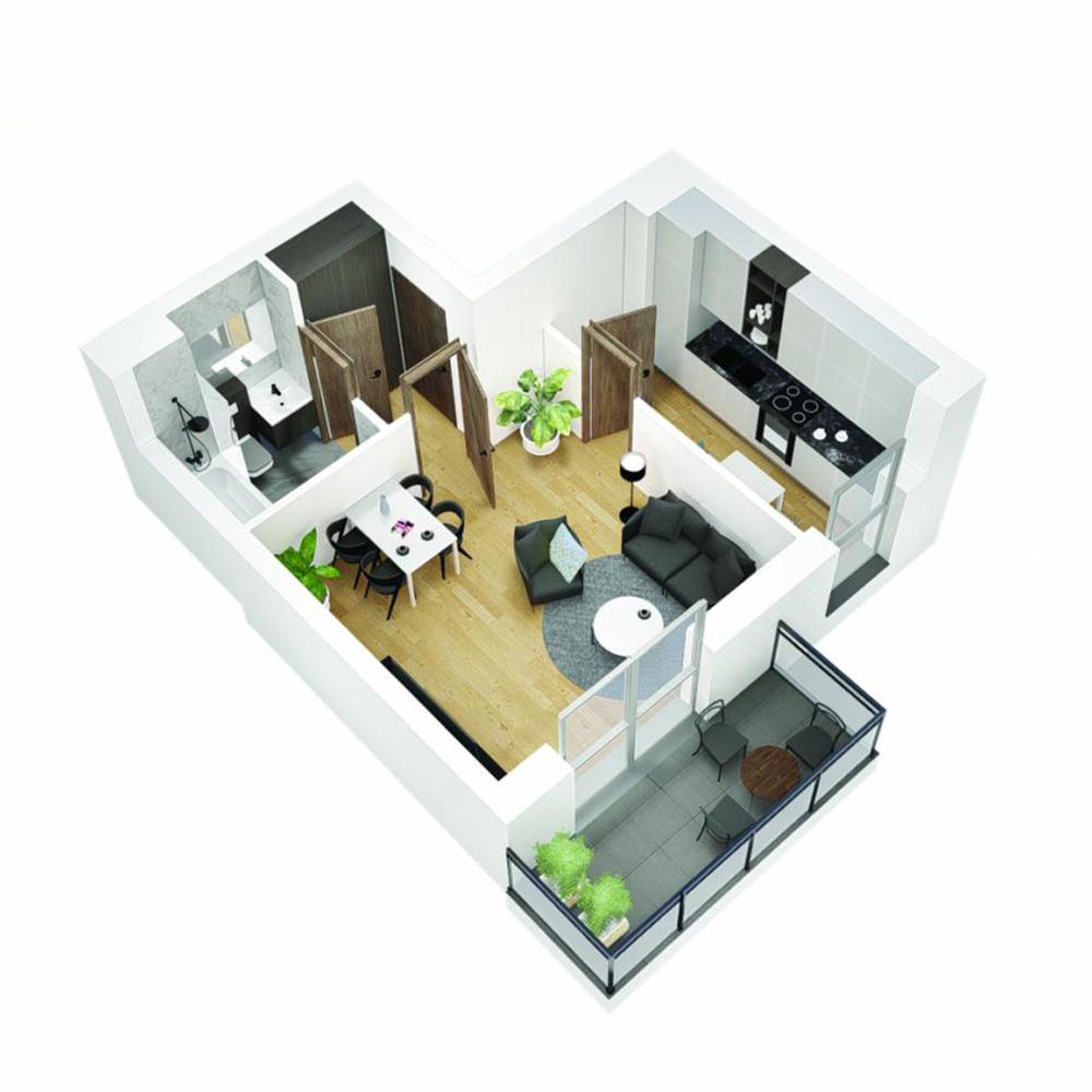 Mieszkanie 1-pokojowe OU-5-22