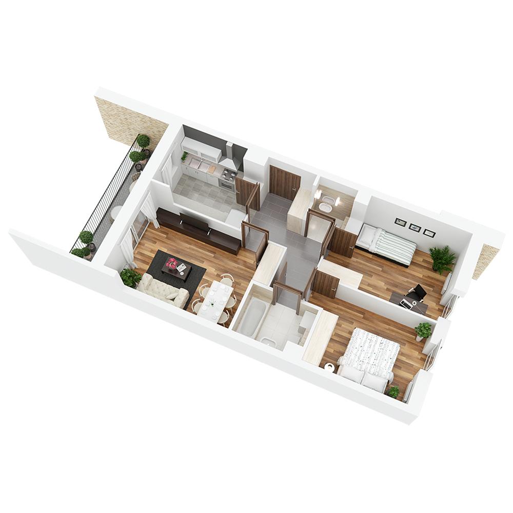 Mieszkanie 3-pokojowe PP-24-42