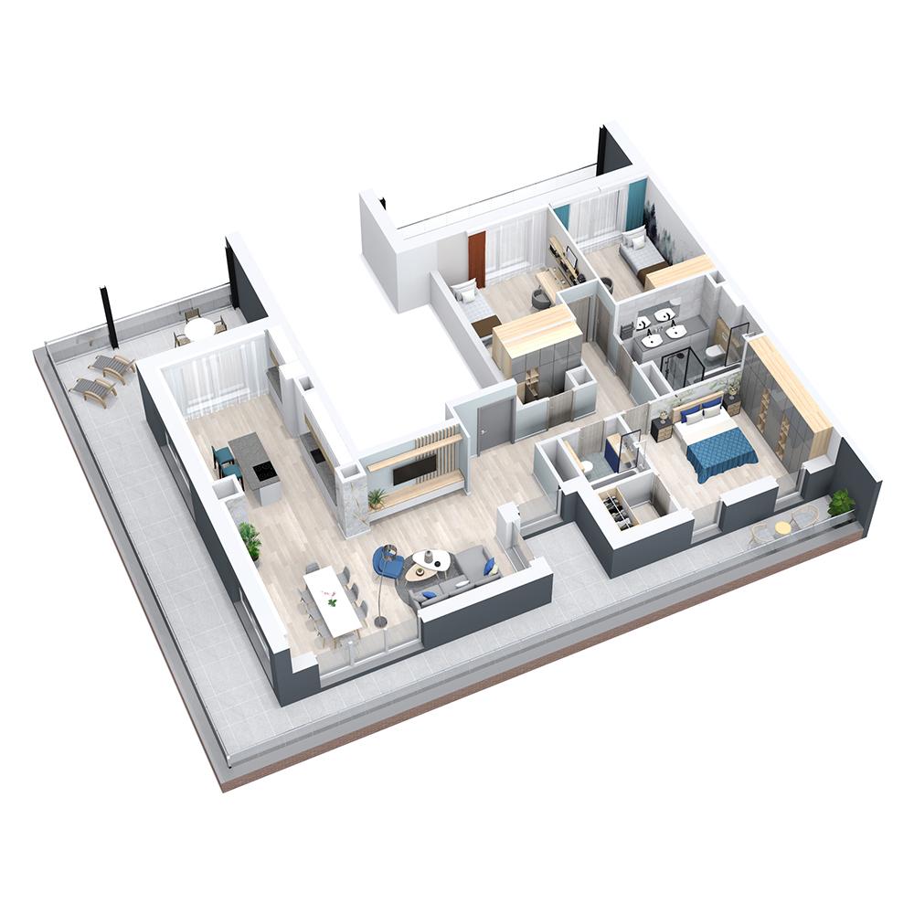 Mieszkanie 4-pokojowe PP-8C-108