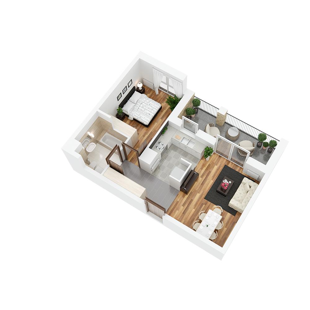 Mieszkanie 2-pokojowe PP-24-41