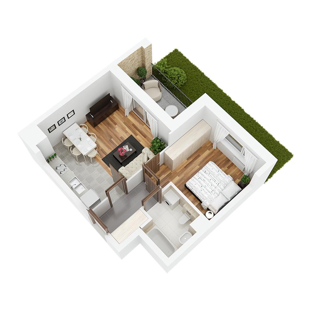Mieszkanie 2-pokojowe PP-24-2