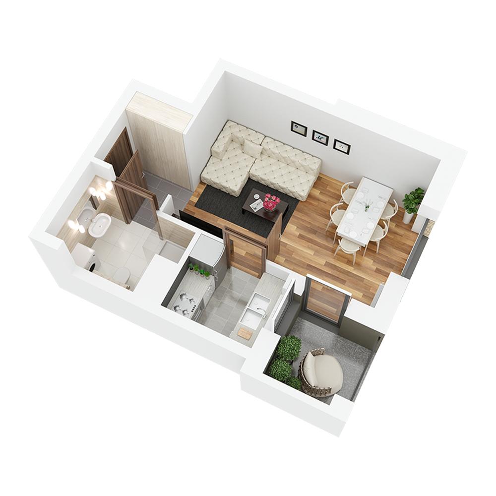 Mieszkanie 1-pokojowe PP-26-46