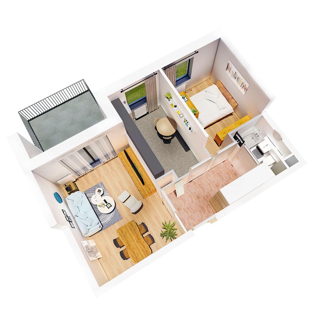 Mieszkanie 2-pokojowe R-B-17