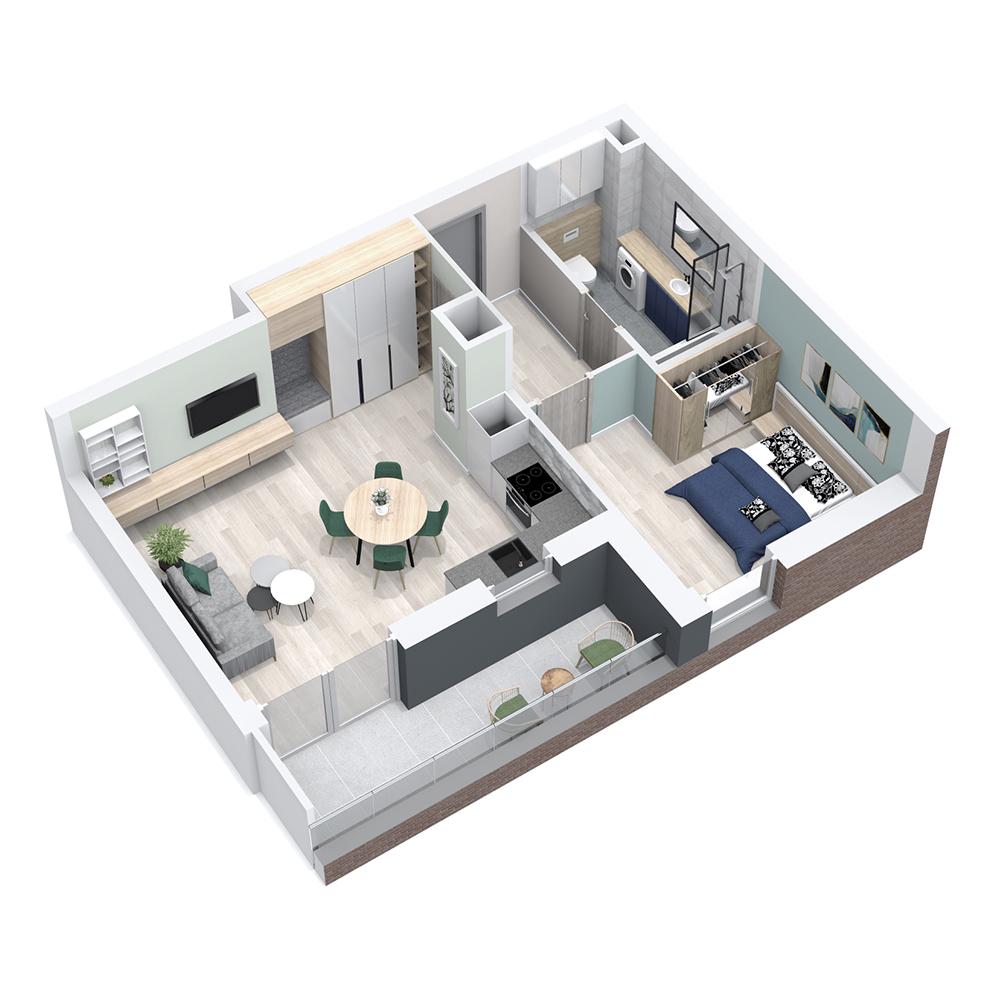 Mieszkanie 2-pokojowe PP-8C-94