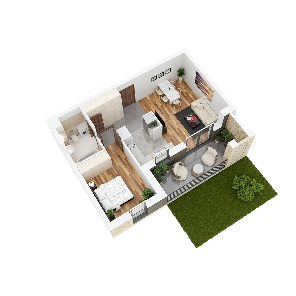 Mieszkanie 2-pokojowe PP-26-27