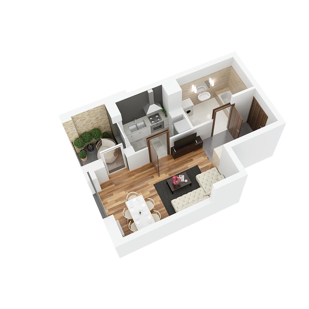 Mieszkanie 1-pokojowe PP-26-72