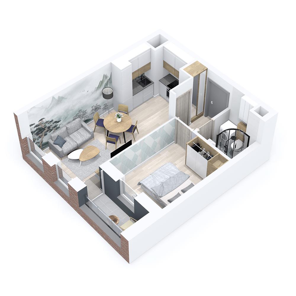 Mieszkanie 2-pokojowe PP-8B-78