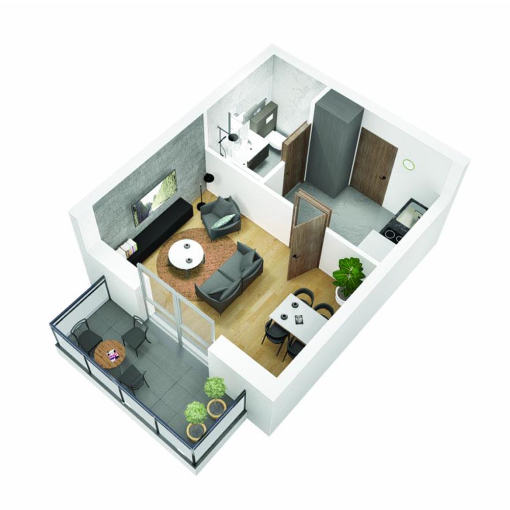 Mieszkanie 1-pokojowe OU-6-18