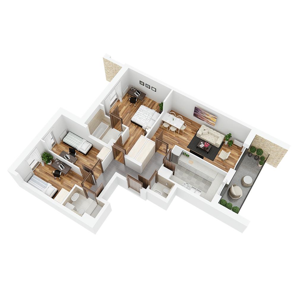 Mieszkanie 4-pokojowe PP-26-33