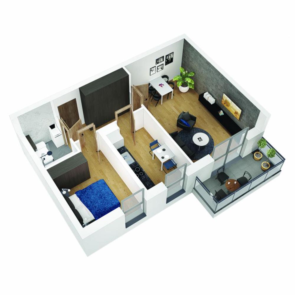 Mieszkanie 2-pokojowe OU-6-30