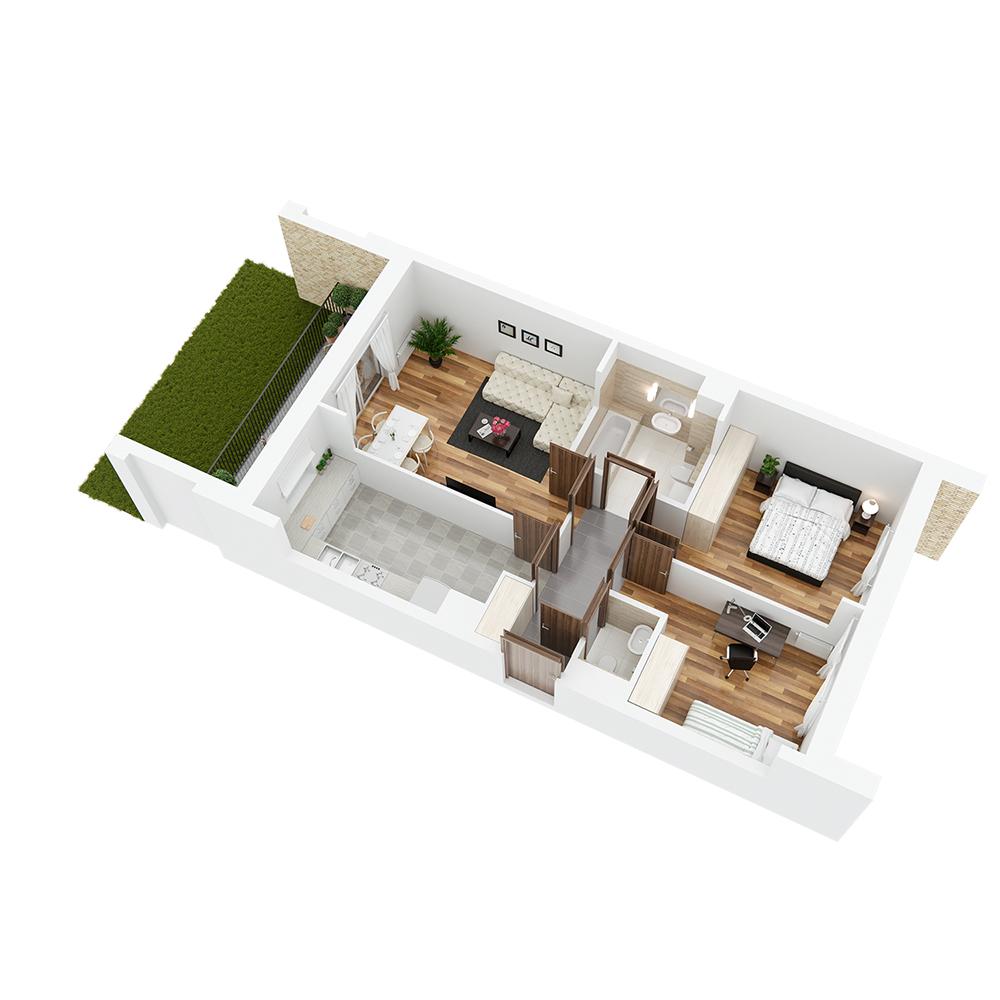 Mieszkanie 3-pokojowe PP-26-53