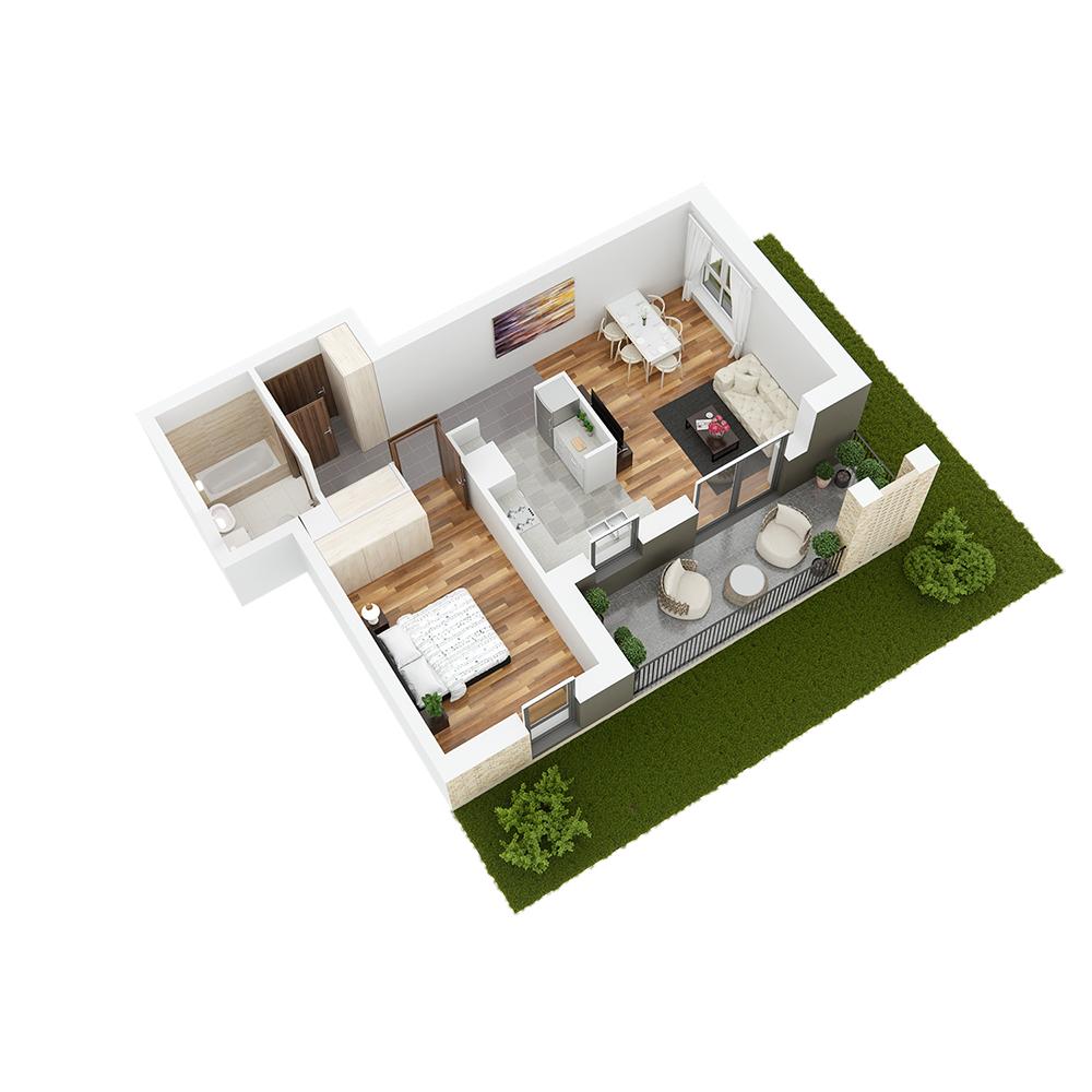 Mieszkanie 2-pokojowe PP-26-51