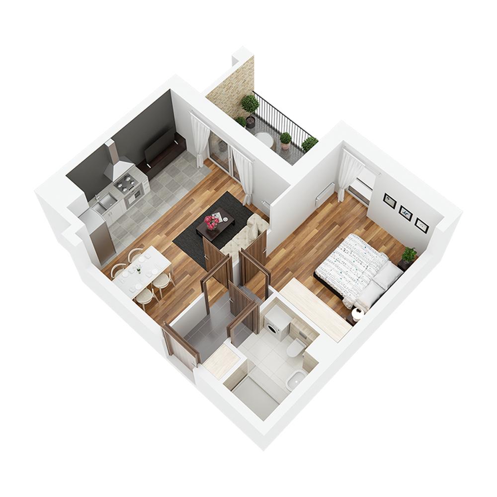 Mieszkanie 2-pokojowe PP-26-55