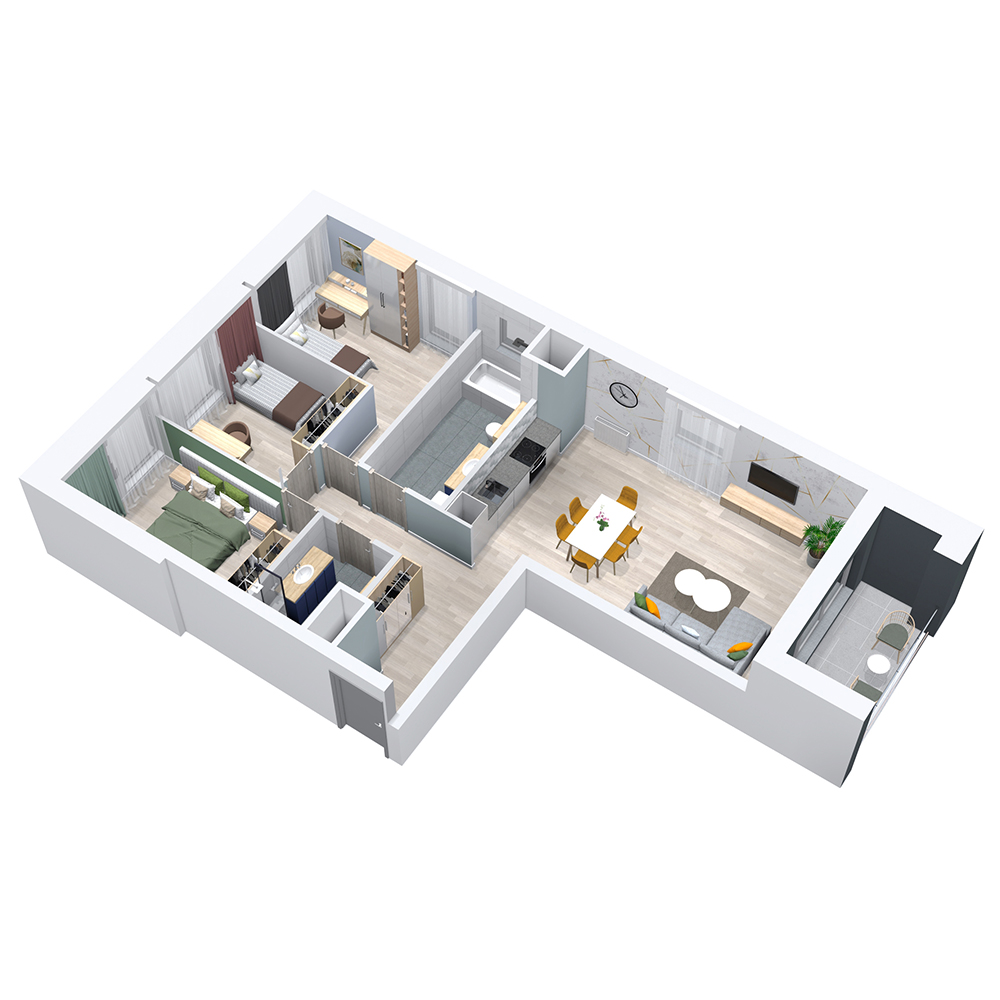 Mieszkanie 4-pokojowe PP-8C-25