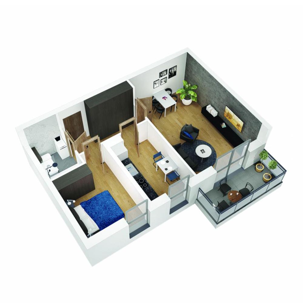 Mieszkanie 2-pokojowe OU-4-28