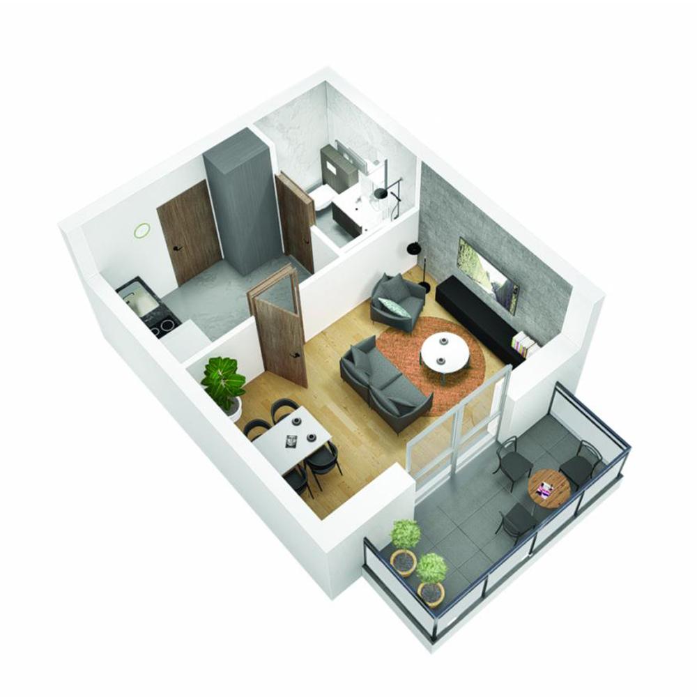 Mieszkanie 1-pokojowe OU-5-24