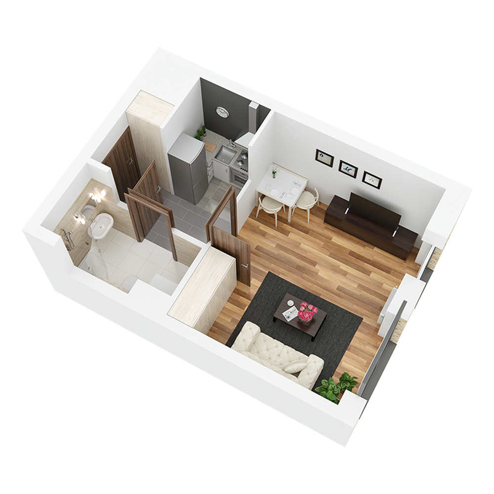 Mieszkanie 1-pokojowe PP-24-16