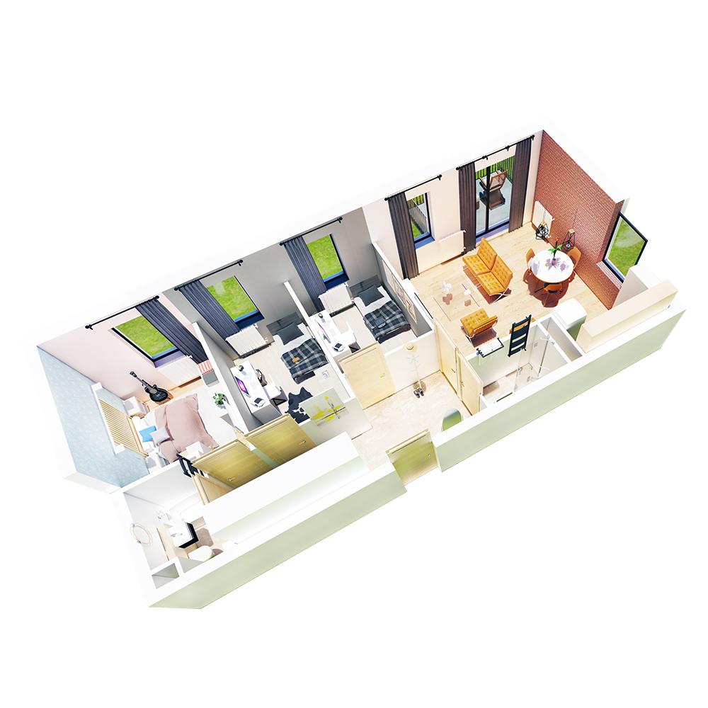 Mieszkanie 4-pokojowe R-B-19