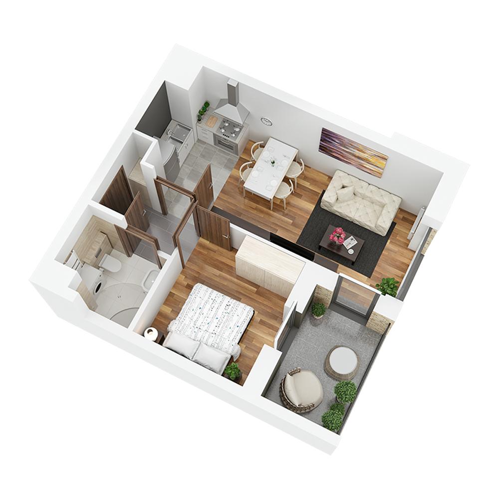 Mieszkanie 2-pokojowe PP-24-12