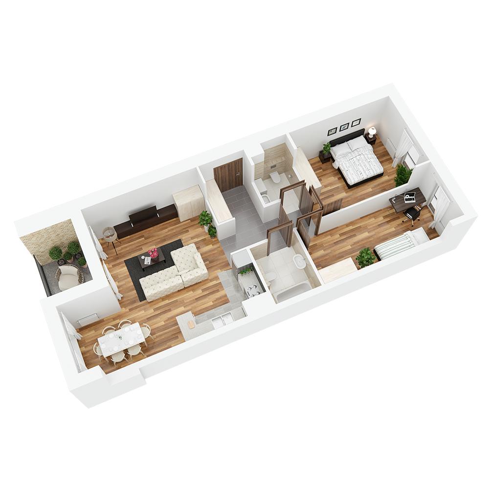Mieszkanie 3-pokojowe PP-24-69