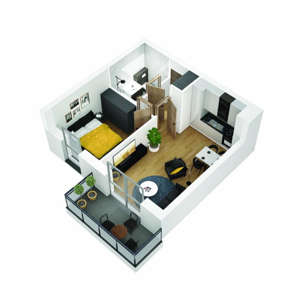 Mieszkanie 2-pokojowe OU-5-33