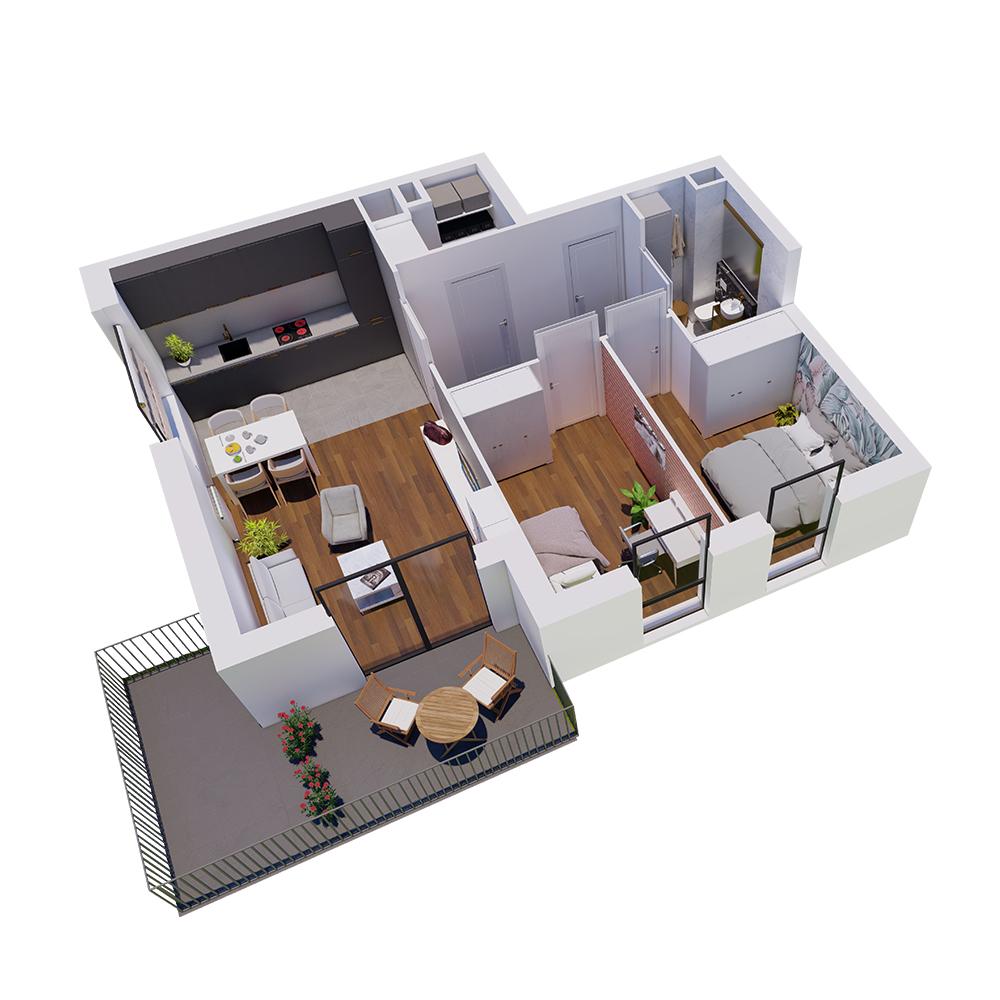 Mieszkanie 3-pokojowe R-A-20