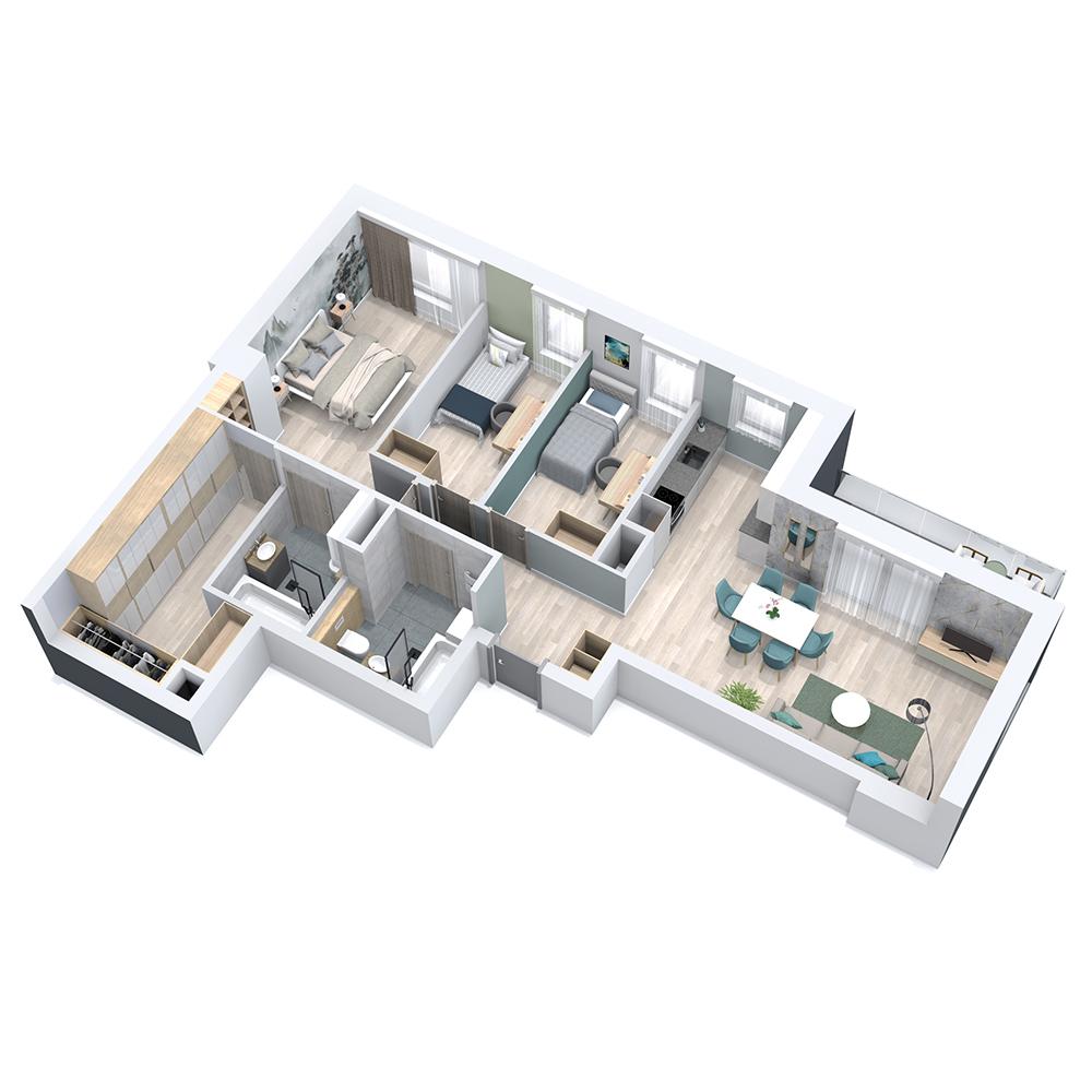 Mieszkanie 4-pokojowe PP-8C-59